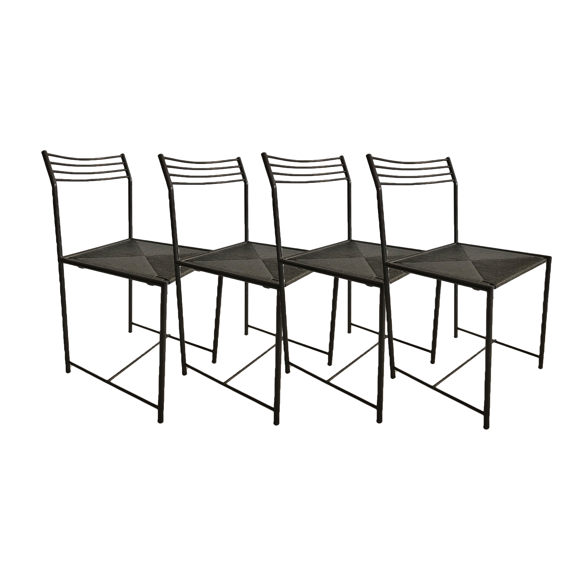 SET OF FOUR LINE CHAIRS