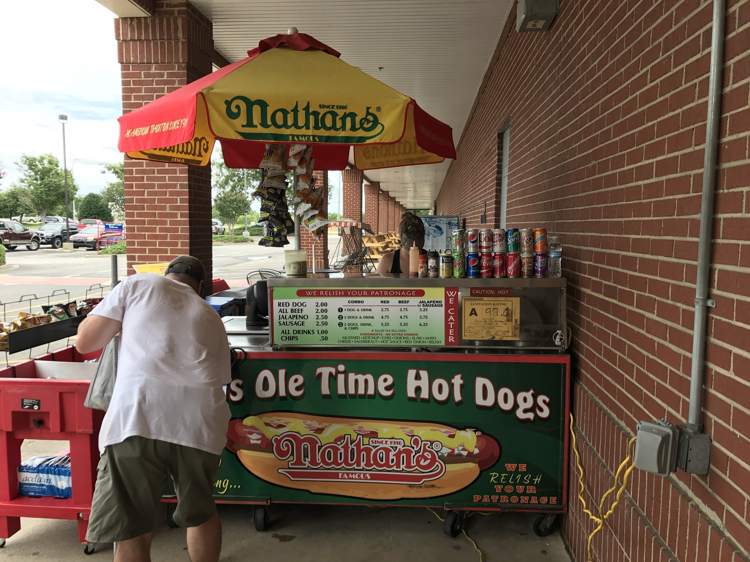Jim's Ole Time Hot Dogs - A quaint stand that resides outside of Lowe's Home Improvement
