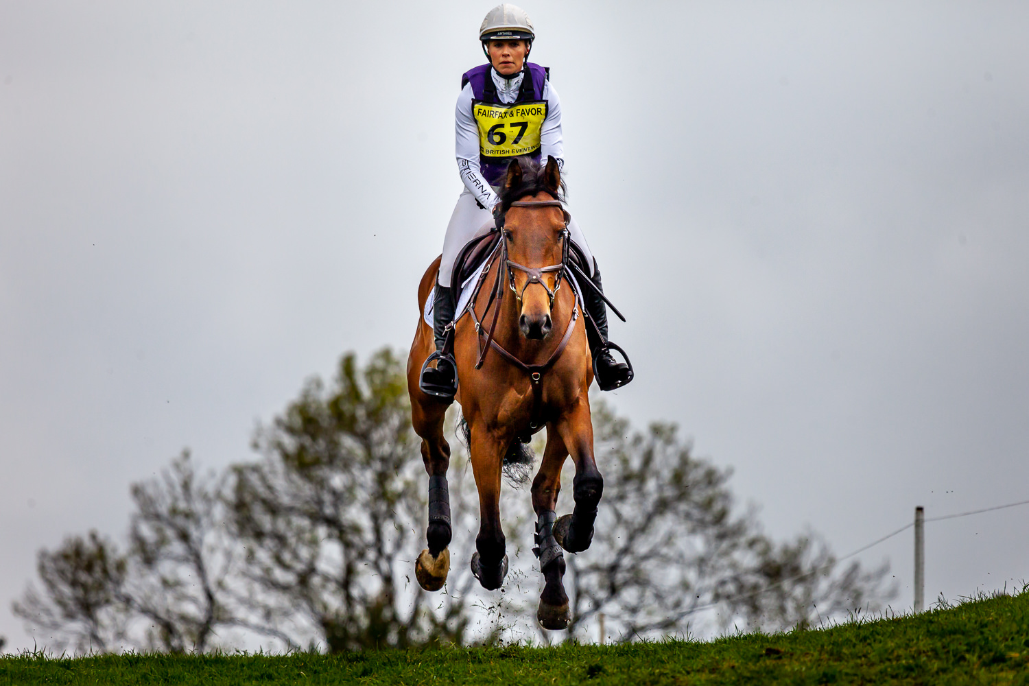 Rider tackles the jump at the Rockingham Horse Trials 2019