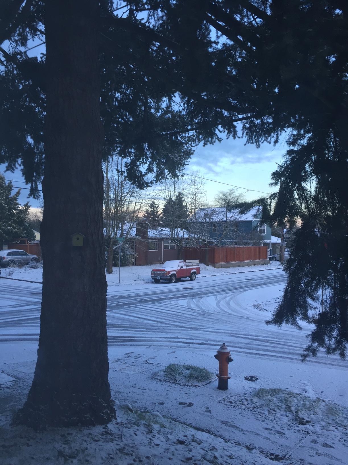 A Snowy Portland Street