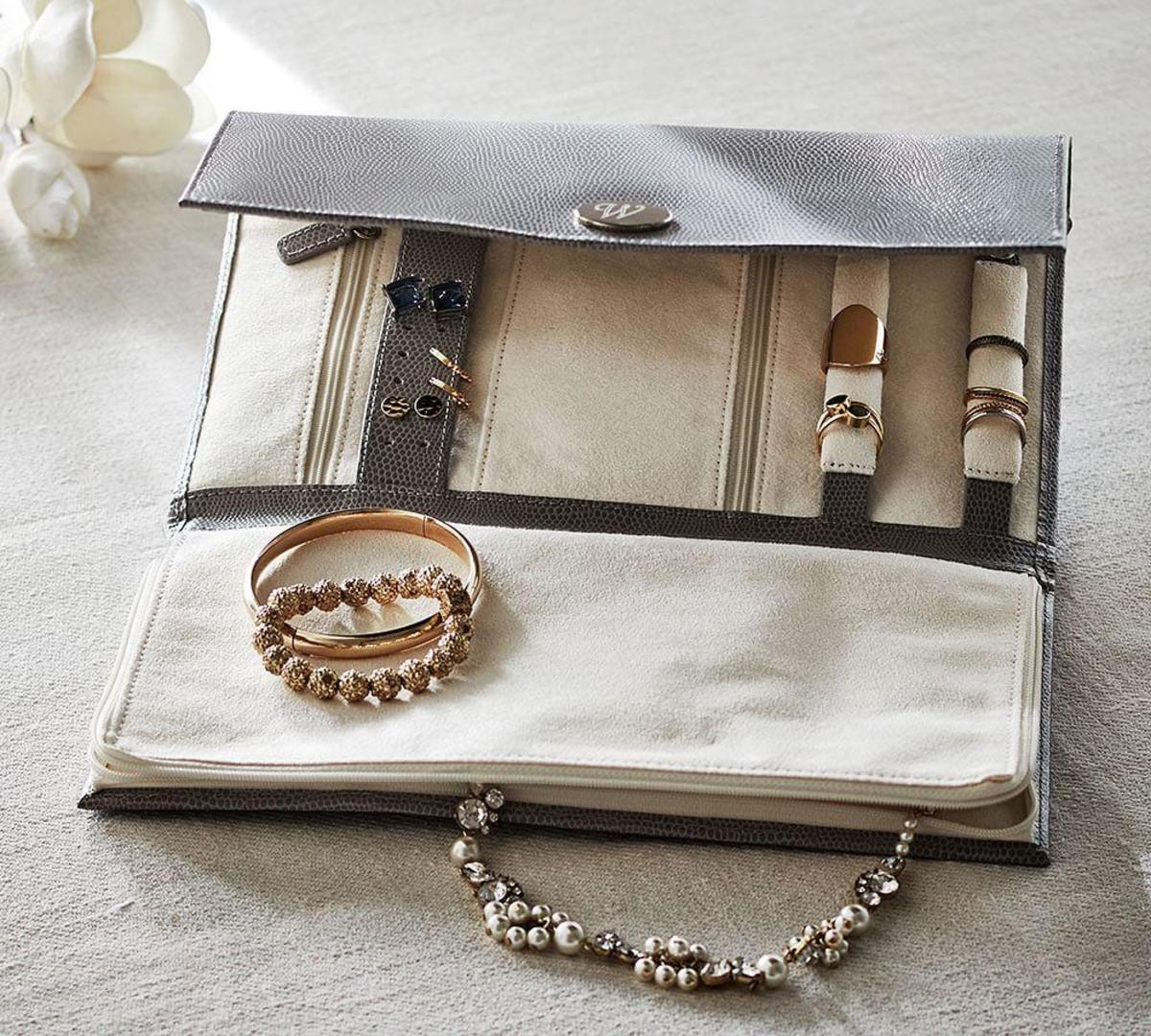 Leather Travel Jewelry Portfolio $79