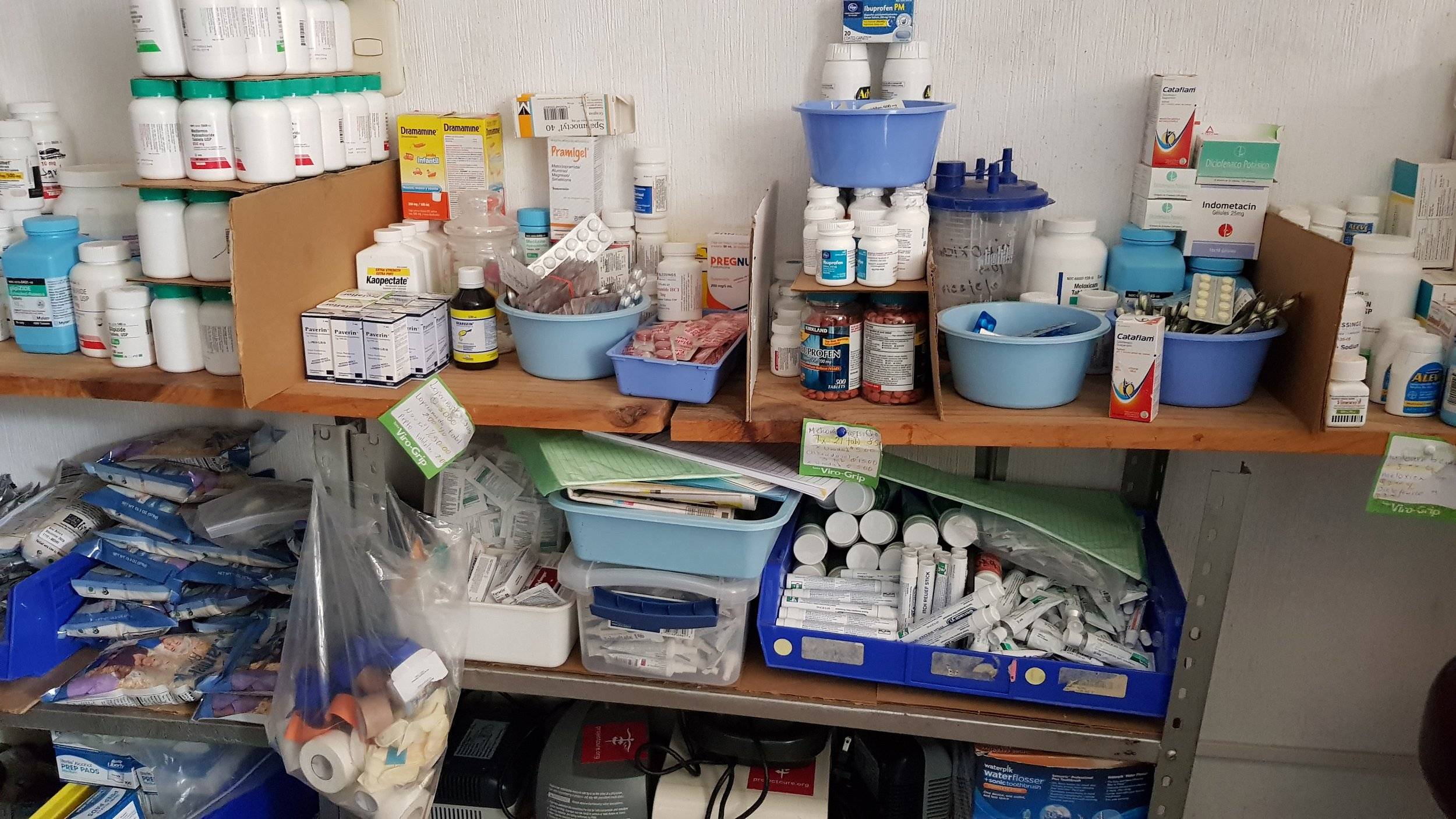 Medical supplies at a Health nonprofit is Sacatepequez, Guatemala