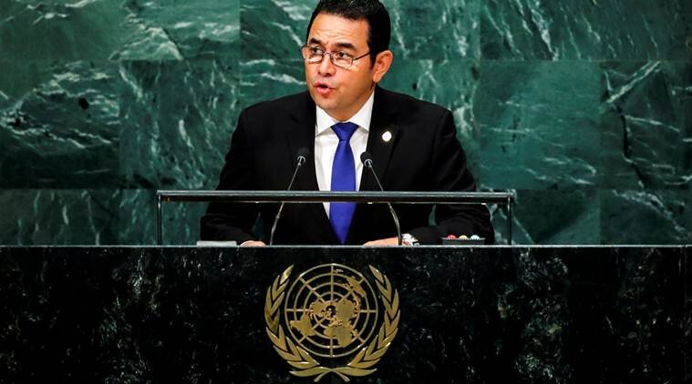 Morales at his UNGA speech on 25th September. Morales shall leave the presidency in 2020. Source: Reuters