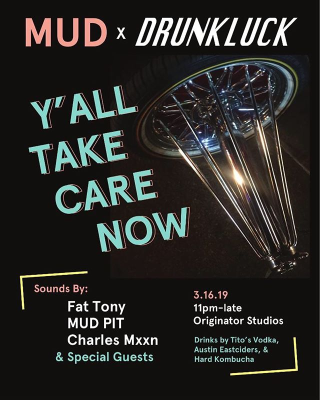 We're teaming up with MUD magazine to end sxsw with a bang- pull up, Austin!! @fattonyrap @charlesmxxn @wetdert and some very special guests. Complimentary beverages — free with RSVP. Link in our bio 🔗🔗🔗