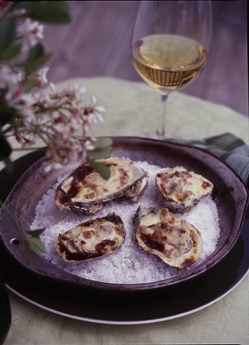 As a member of the Virginia Oyster Trail, this recipe had us interested immediately! Add in some Virginia ham AND Virginia wine and you have yourself a definite winner.
