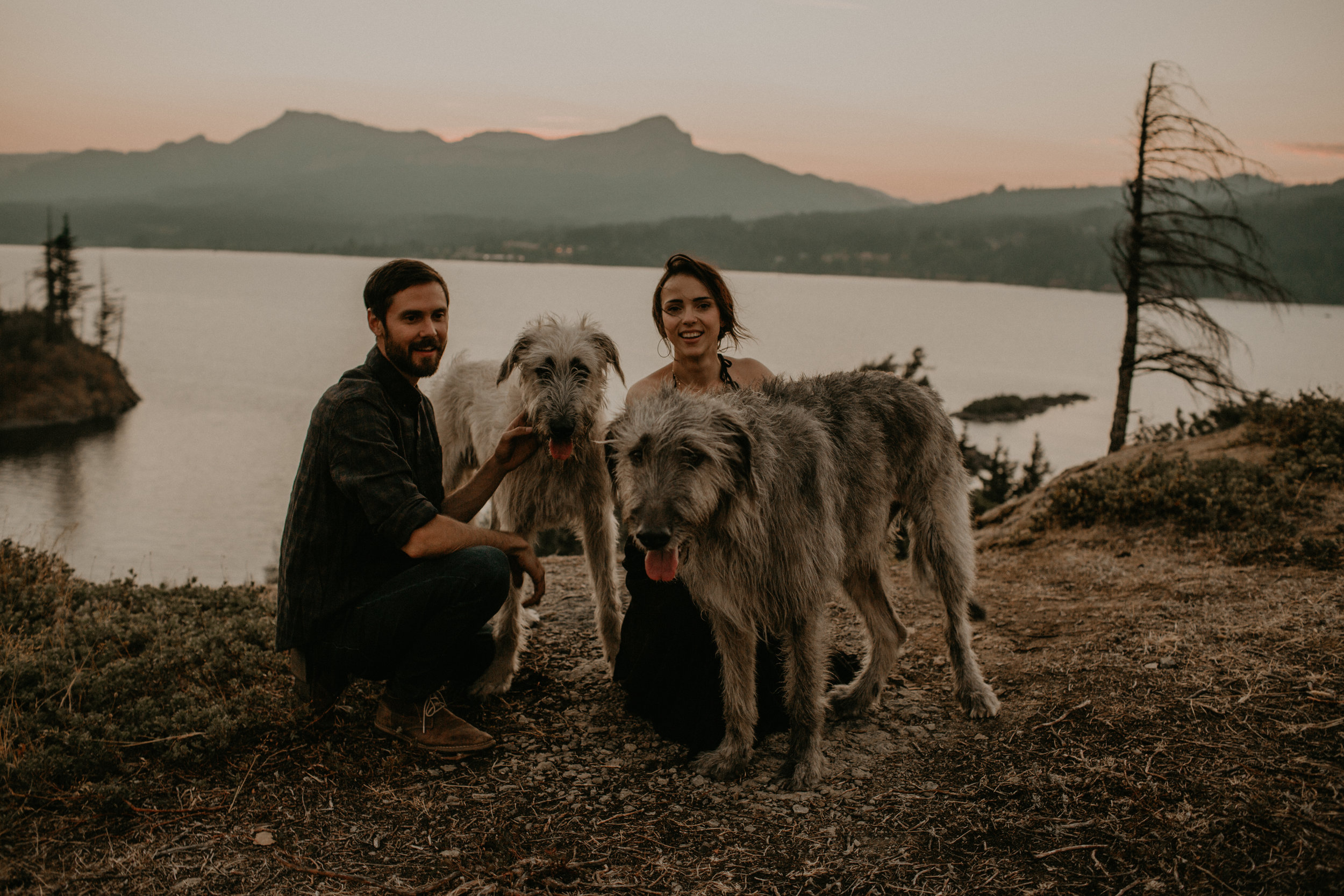 Adventure session with irish wolf hounds | portland, or
