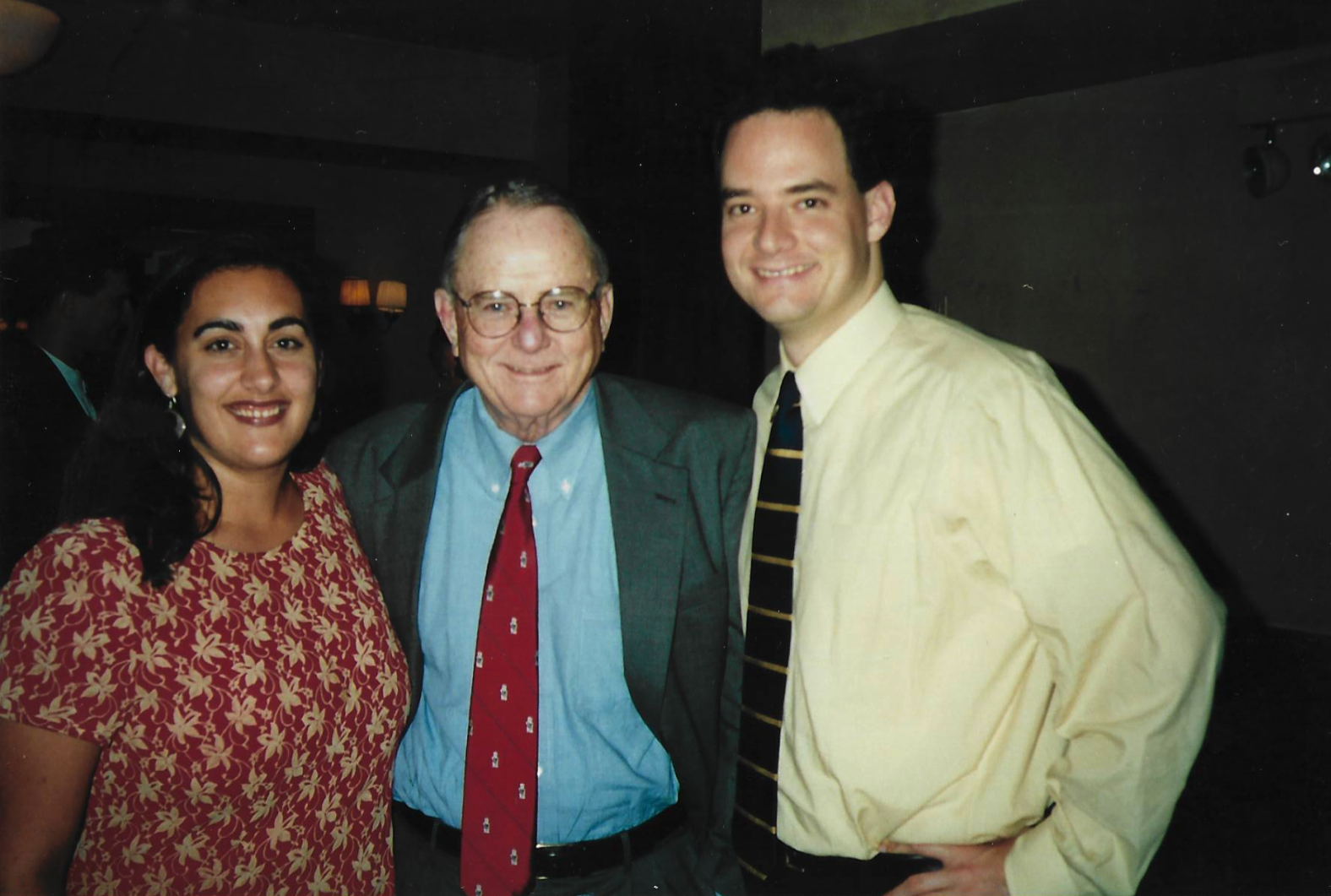 Maya poses with the Honorable Richard D. Cudahy -