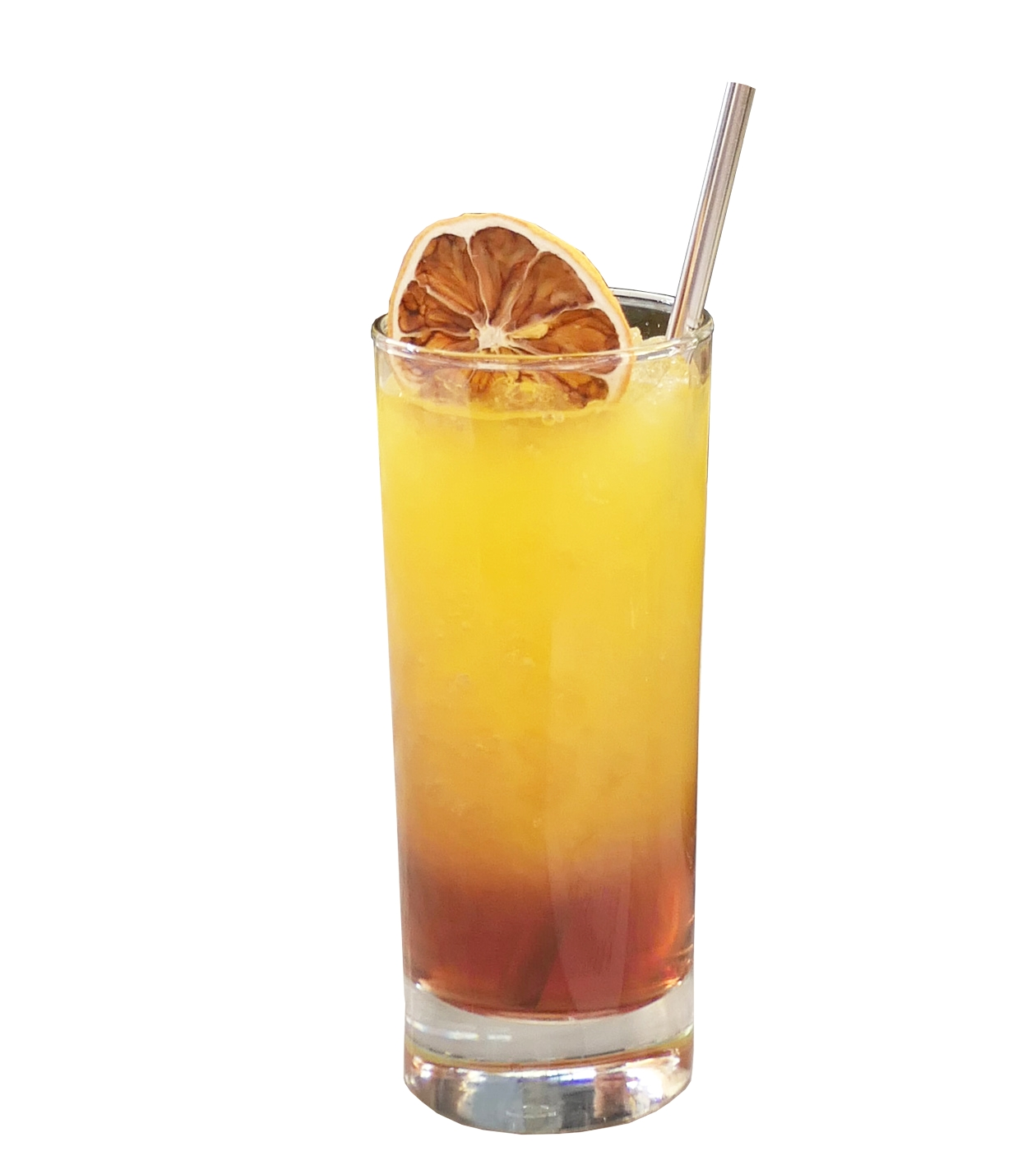 SUNRISE  20ml Grenadine 45ml Norseman Agave Americana Fresh Orange Juice  Combine Granadine and Norseman Agave Americana in the bottom of a tall cocktail glass, stirring thoroughly. Add ice cubes and top with orange juice.