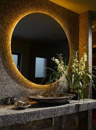 Lighted Mirror - This lighted mirror is the new trend.  Fabulous! It can provide an even concentration of light and can come in different levels of brightness ranging from a day light to home/work light. Hmmm- perhaps this will look good in my bathroom- decisions, decisions.