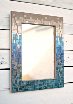 Teal and Bronze rectangular mirror.jpg