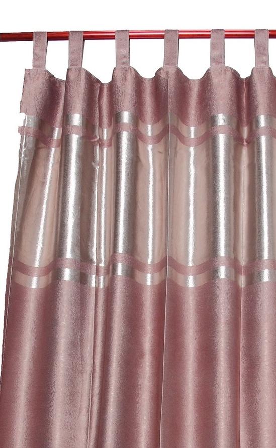 TAB TOP heading - Flat loops of fabricCan provide a romantic look