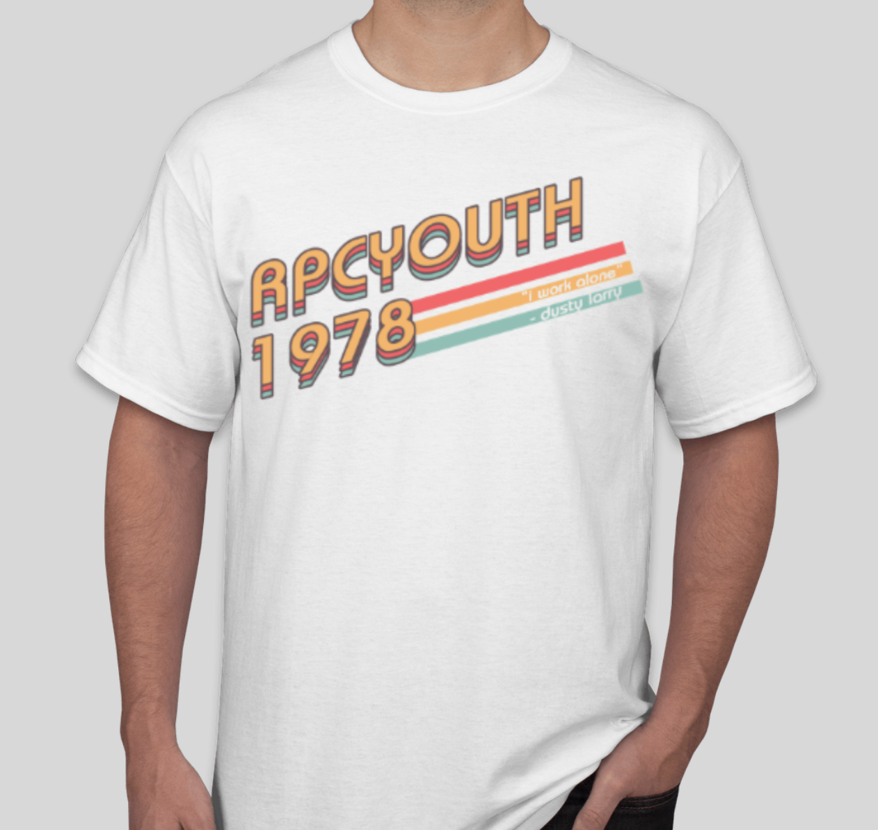 """RPCYOUTH """"Dusty Larry"""" Tee // """"I work alone"""" - $15 // order by Oct. 22th"""