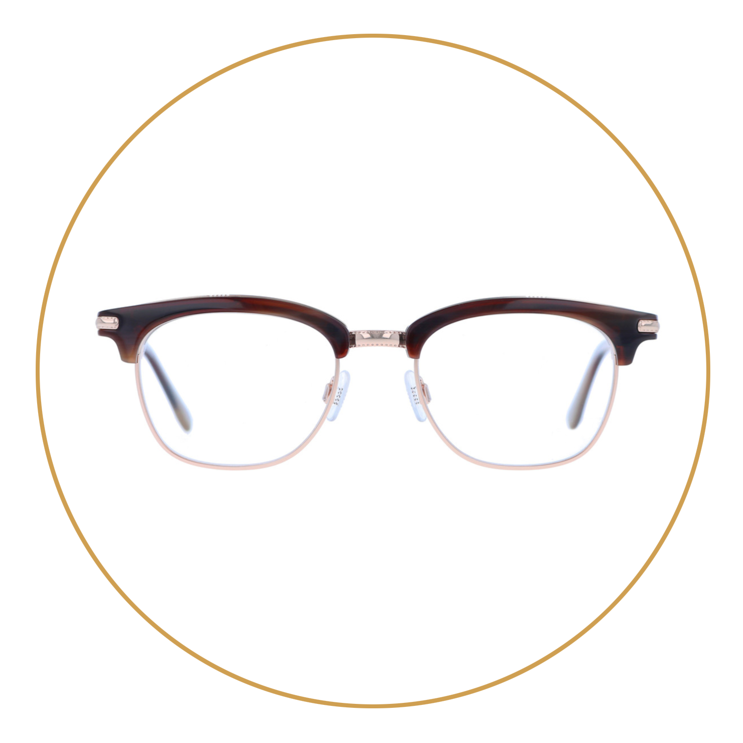 Clubmaster Browline - This classic men's style is the male version of the cat-eye. It's a nod to the 50s and 60s with a literary sensibility and a polished profile.