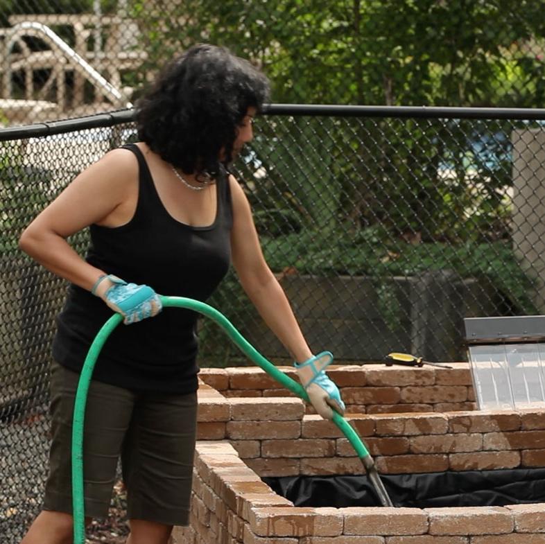 Step 5 - Begin filling the water basin.