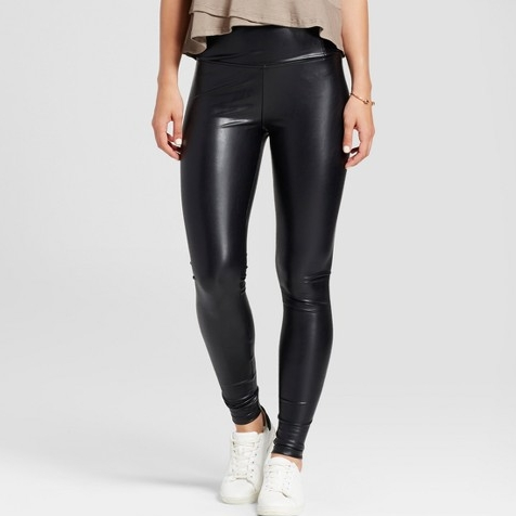 (Faux) Leather Leggings