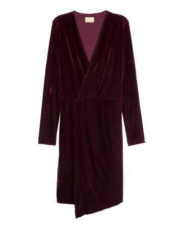 Maroon Velour Dress