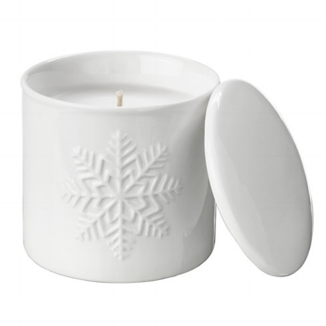 $4 snowflake candle for the coffee table...it's all about the details