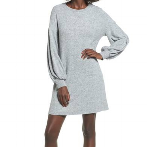 Soprano Balloon Sleeve Sweater Dress
