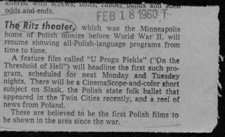 A news clipping from the Northeaster Newspaper, 1960.