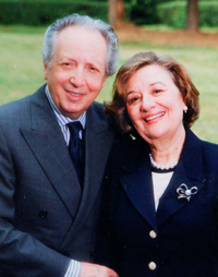 With his wife Lucille