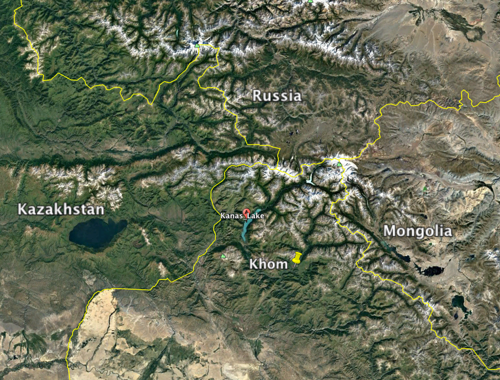 Khom is located approximately 50 km from Kazakhstan, Mongolia and Russia making it very multicultural
