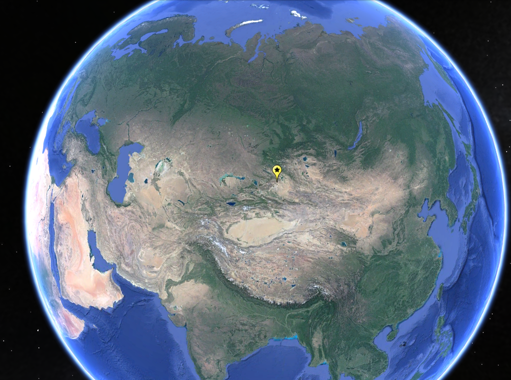 Khom is located very close to the point furthest from the ocean in the world