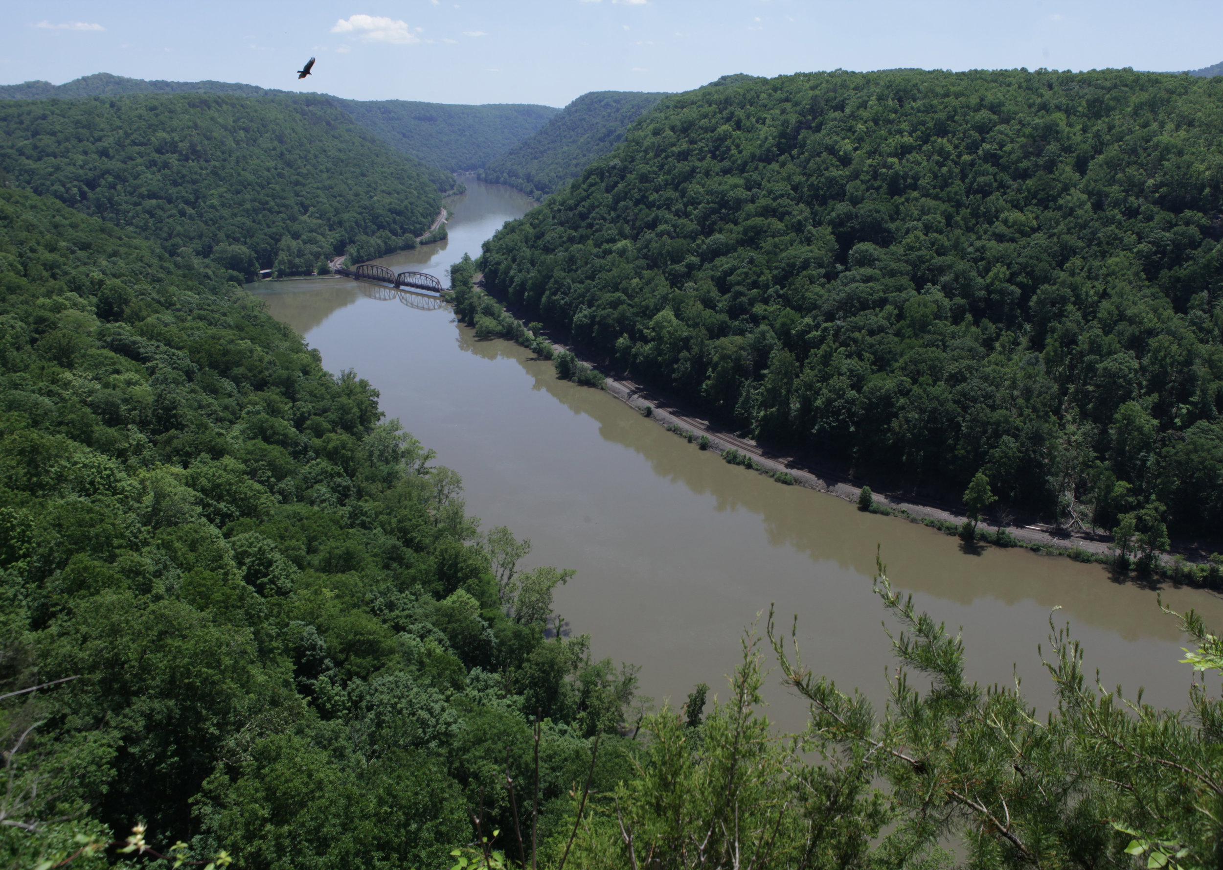 The New River seen from Hawks Nest State Park near Ansted, West Virginia.