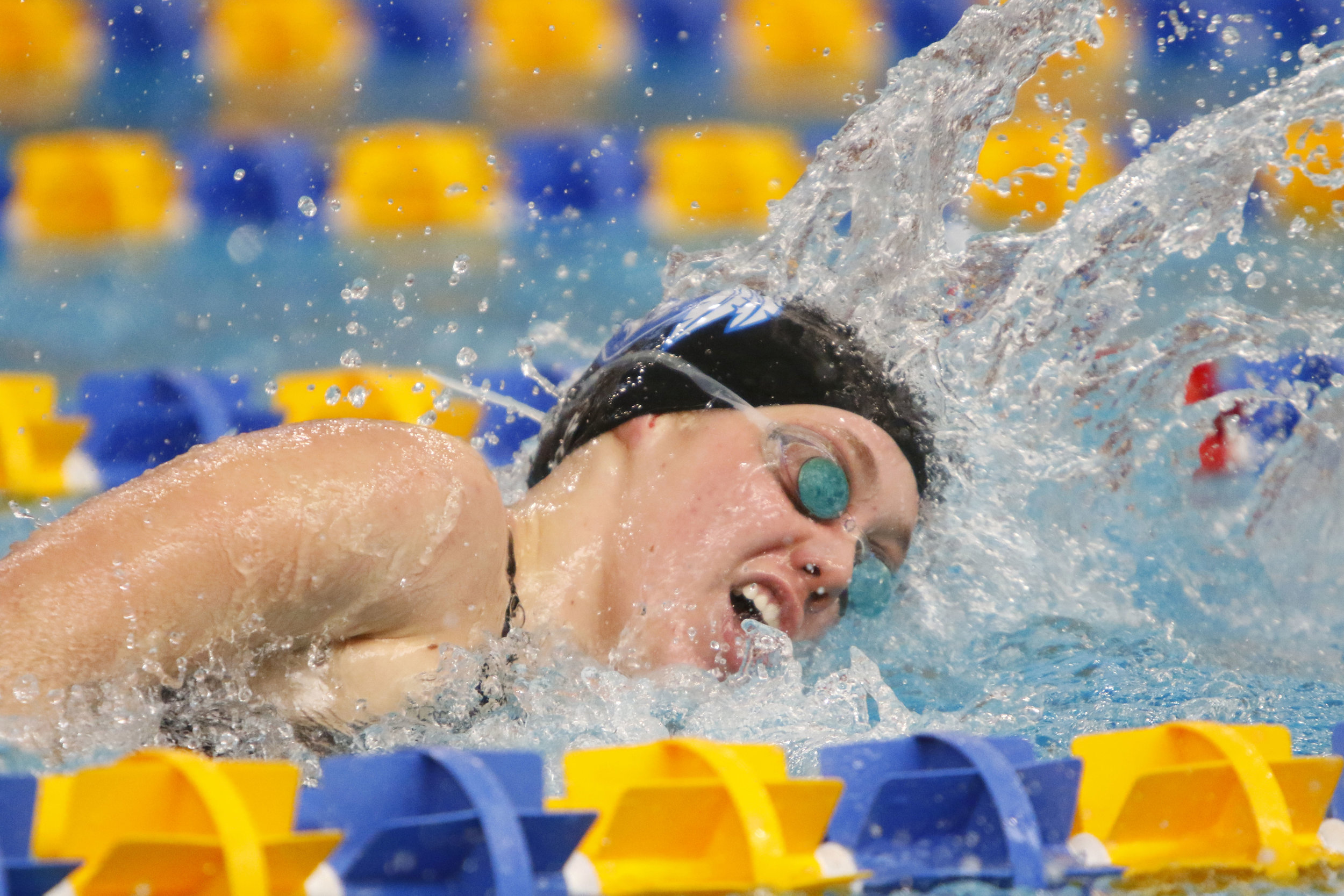 Lake Central's Jillian Murray competes in the 500-yard freestyle at the Highland Invitational.