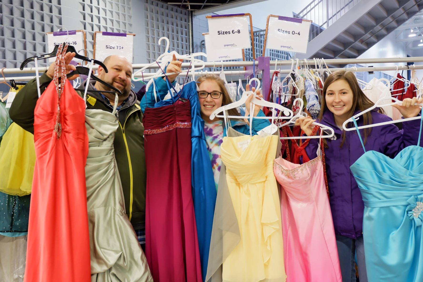 Each Grapevine event partners with local charities to donate unsold items, including Harvest House Atlantic & Project Prom Dress.