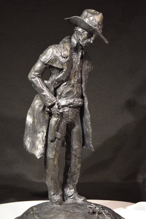 Gunslinger | Raku Ceramic | Sculpture