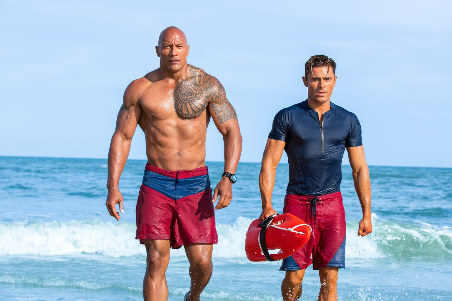 4. BAYWATCH   (Director: Seth Gordon)    Baywatch  is the antithesis of fun, funny, entertaining, humorous, joyful, engaging, memorable, and all the rest of any positive superlatives you can throw at it. In a theater full of 20 people, at a Thursday night preshow, four folks walked out by the midway point and no one made a sound, except the one gentleman who laughed uproariously at EVERYTHING. One of the most painful exercises I've had at the movies in years,  Baywatch  can't even make the idea of Dwayne Johnson and Zac Efron starring together worth watching.
