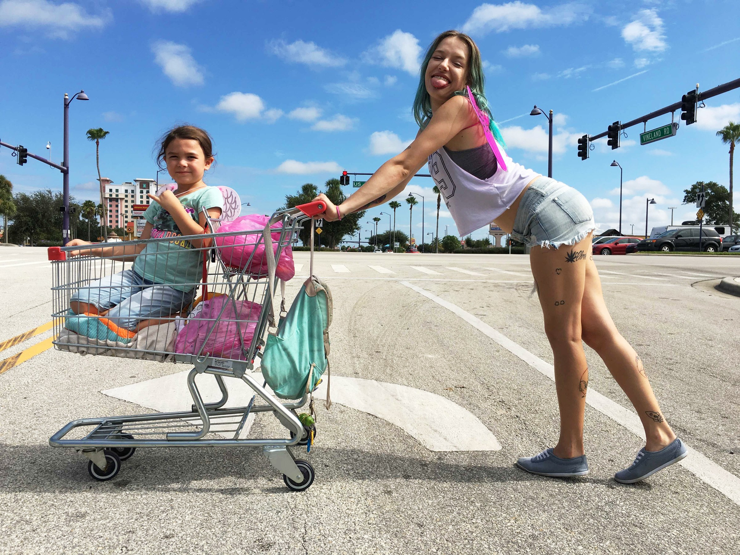 "10. BROOKLYNN PRINCE, BRIA VINAITE | as Moonee and Halley | THE FLORIDA PROJECT    (Regarding 7-year-old star Brooklynn Prince):  ""There were a few scenes...that were more improv. But for the most part, I have to say, we stuck pretty close to the script, we had limited hours, and Brooklynn is amazing at just learning lines. So she would come to set knowing the scenes and then sometimes if I had time I would let them deviate or I would encourage some improvisation. There were sometimes that were almost fully improv, but obviously she knew what she had to say to sell the perfume. That was literally like we were putting them in a candid camera situation. So I couldn't even—I couldn't tell her what to expect because I didn't know what would happen...""   (Regarding the debuting Bria Vinaite and discovering her on Instagram):  ""At the time I was thinking about the character of Halley a lot, and we haven't cast for her yet. So we were out to some A-listers for that role...but then, I kept going back to Bria's Instagram saying 'yeah, well they're not going to be as good as her so….' But we could never cast her because my financiers won't allow me to but then somebody finally said, 'why don't we just audition her? You proved in  Tangerine  that unconventional casting can work.' And I think that's what allowed me to do it. So we flew her to Orlando. She connected with Brooklynn and it seemed to me like the energy was there. I actually believed them as mother and daughter.  [Bria] was really enthusiastic about doing it, but at the same time, she was intimidated. She said, 'Help me' and we said 'we're gonna give you a crash course in acting for the next month.' So a month leading up to the shoot, she lived down [in Florida] and she was working with my acting coach who worked with the kids and it was just all intensive. It was freakin' awesome, was what it was. She really really got to that place we needed her to get to."" -  Sean Baker, director of  The Florida Project , Collider, October 13, 2017"
