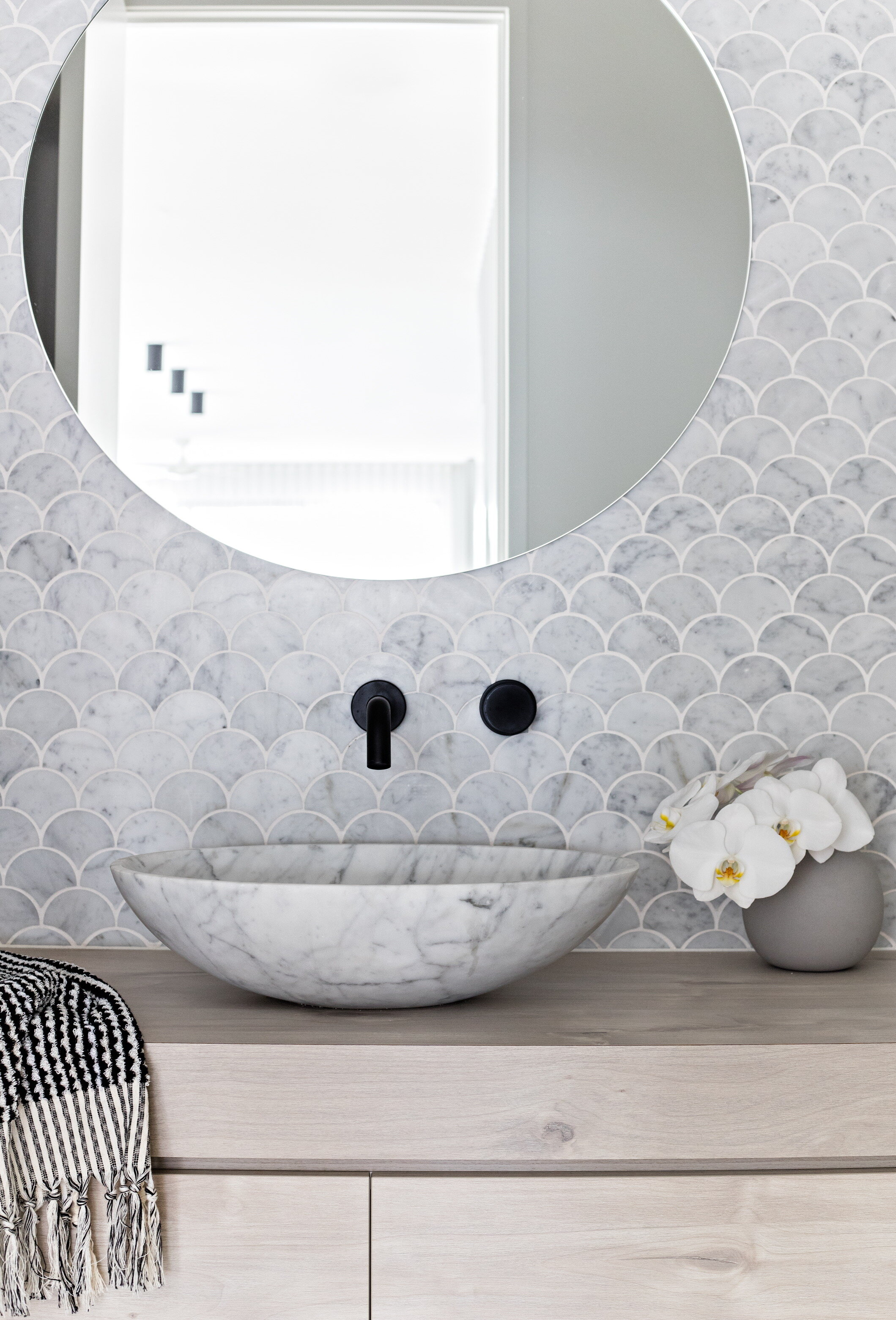 Zephyr and Stone • Scandi Powder Room