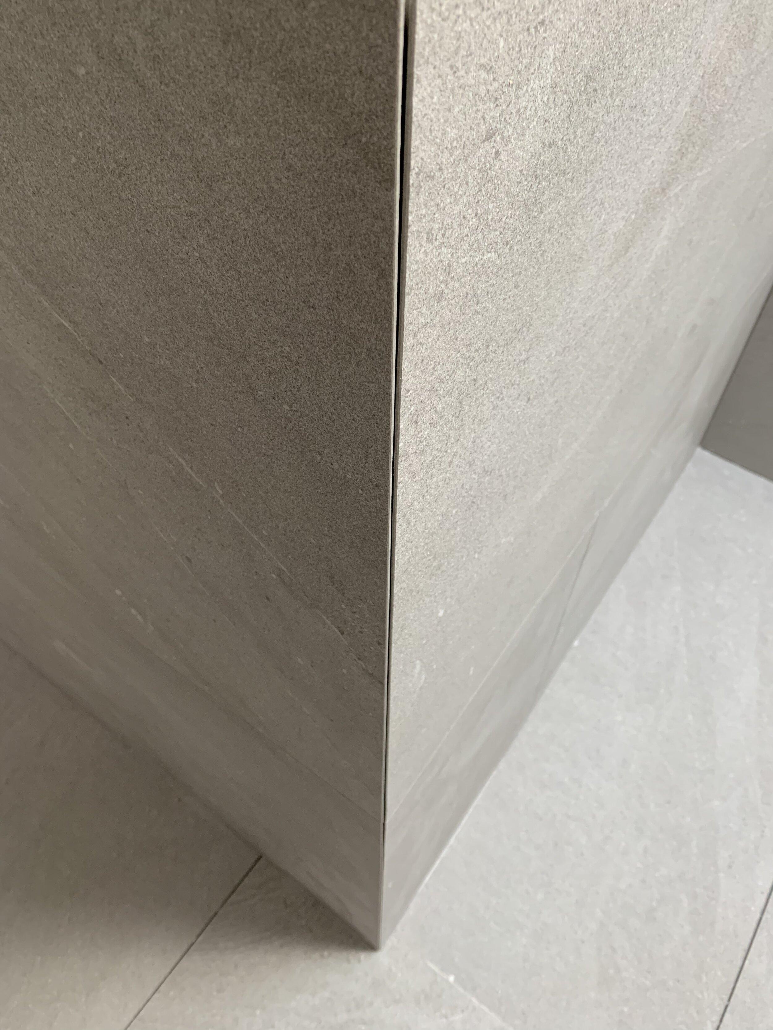 Zephyr and Stone • Resort Bathroom • Mitred Corner Pre-Silicone