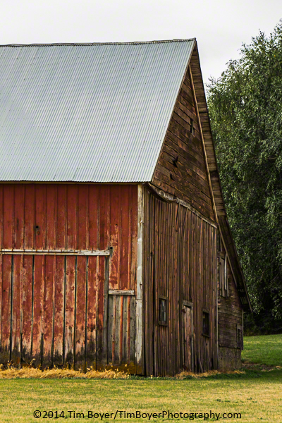 Red barn detail.