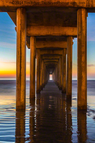 Scripps Pier La Jolla CA, 25 second exposure.