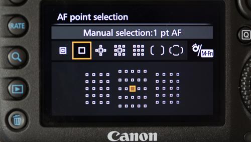 Single-point AF area selection mode