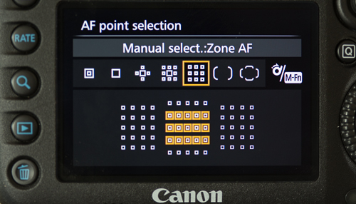 Zone AF area selection mode
