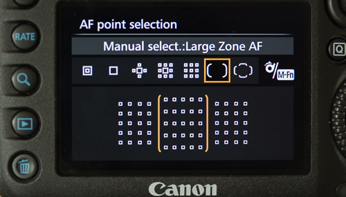 Large Zone AF area selection mode