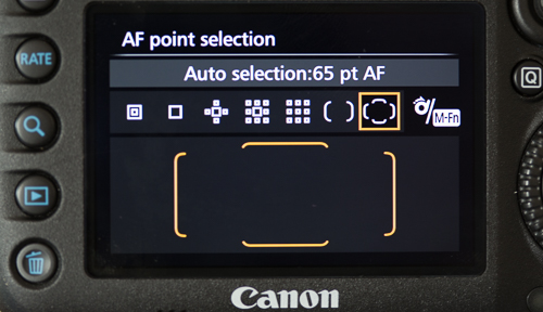 65-point automatic selection AF area selection mode