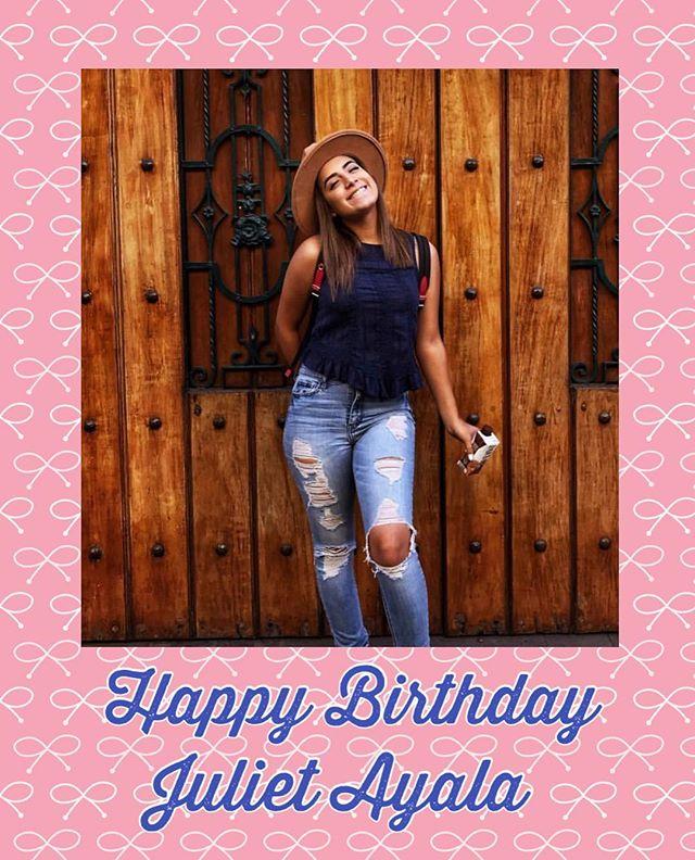 Wishing @07_julietayala a happy happy birthday!!! From @liveyoursnow