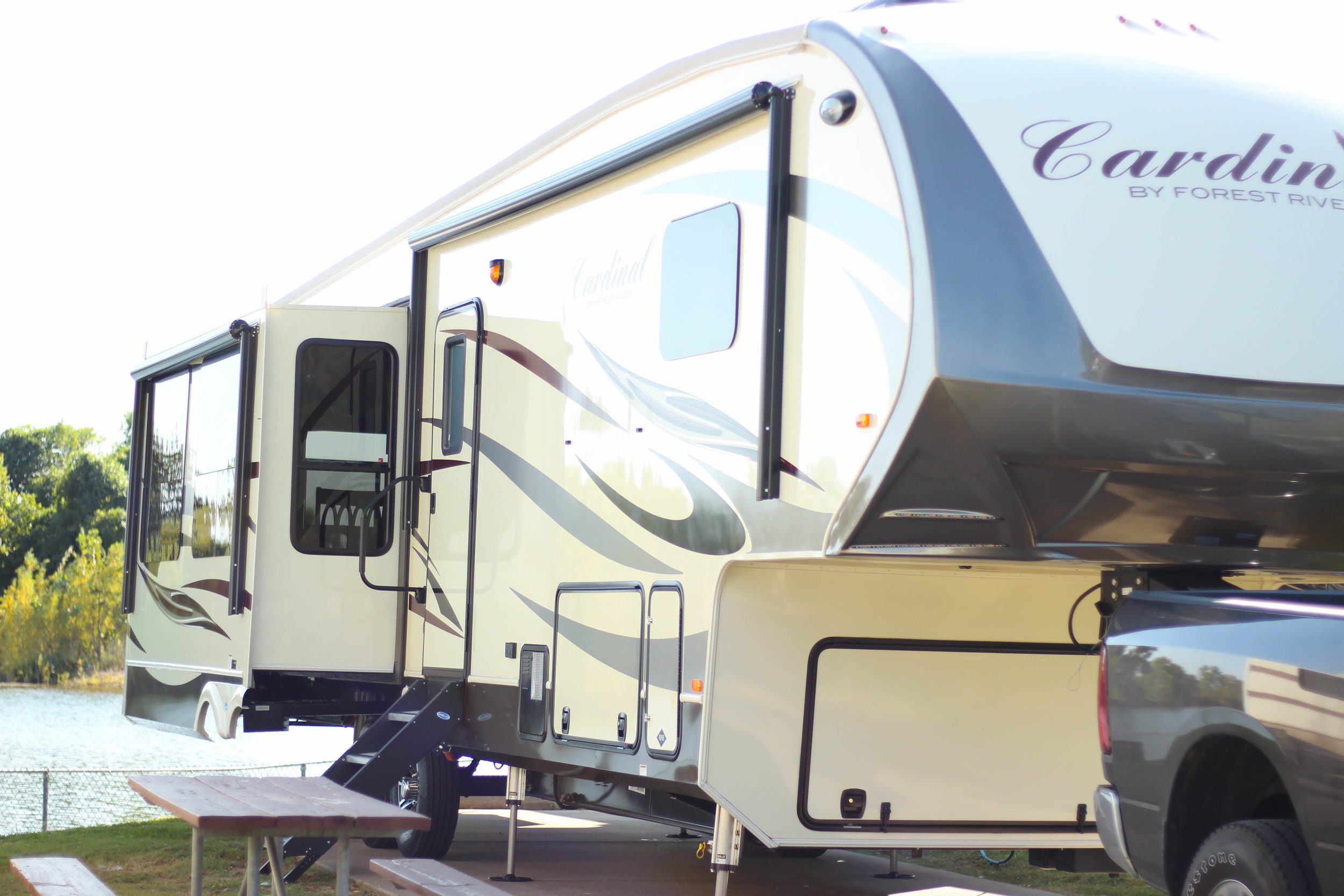 Thelma the Cardinal RV! We love the cardinal because not only is it cozy and comfortable inside but the name reminds us of Cardie.