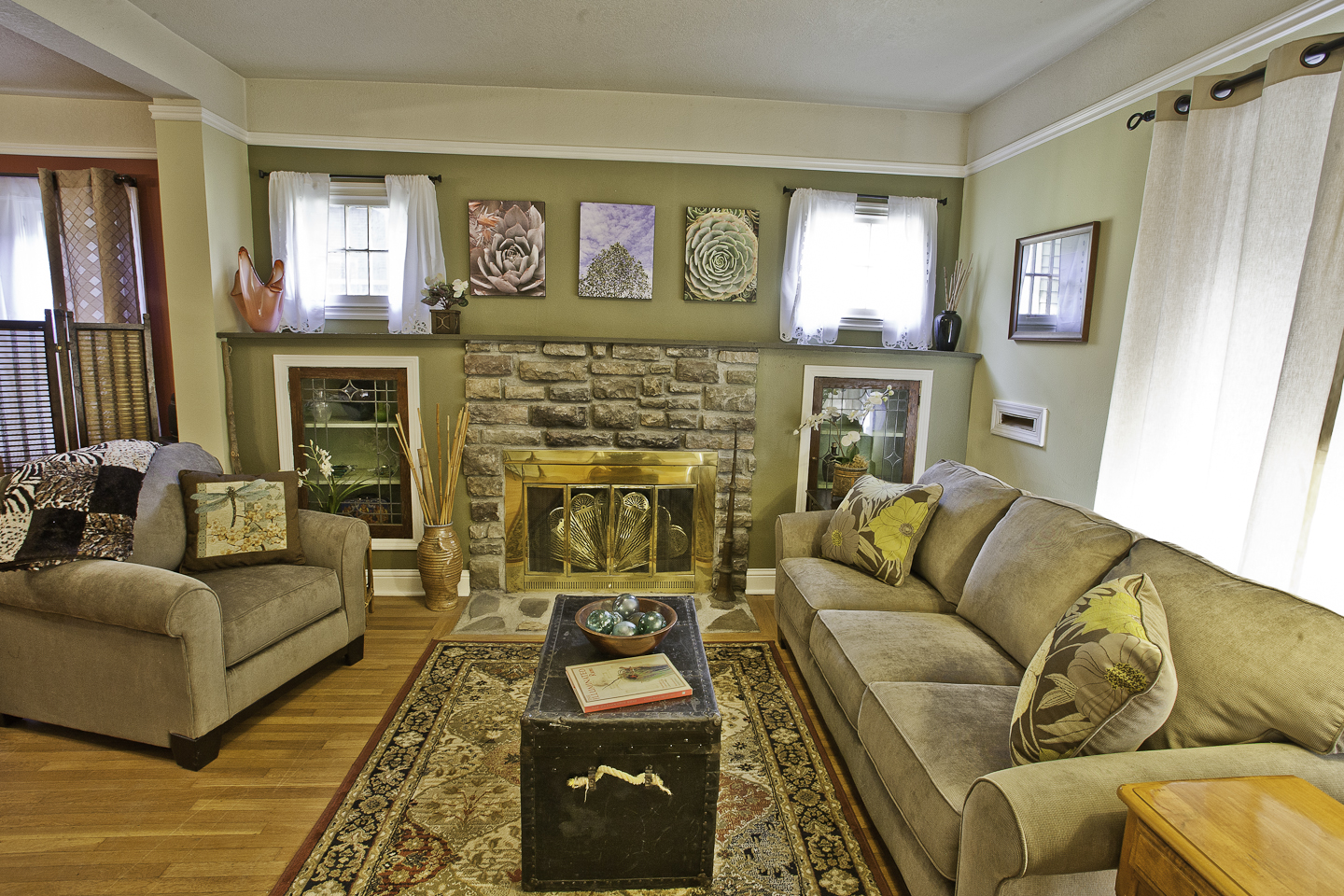 Craftsman charm throughout this lovely home