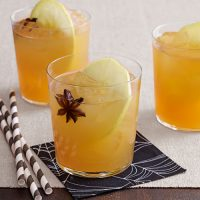 Apple Cider Punch - Ingredients:- ½ gal. apple cider- 1 qt. white grape juice- 1 bottle sparkling apple cider- 8 oz. orange juice- 8 tsp. star anises- 3 large Golden Delicious applesInstructions:In a punch bowl or large pitcher, combine apple cider, grape juice, sparkling cider, and orange juice. Add star anises and slices from 2 apples. To serve, fill tumblers with ice. Garnish each with 1 apple slice.