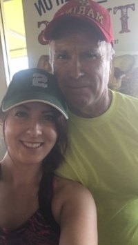 Girl with dad selfie