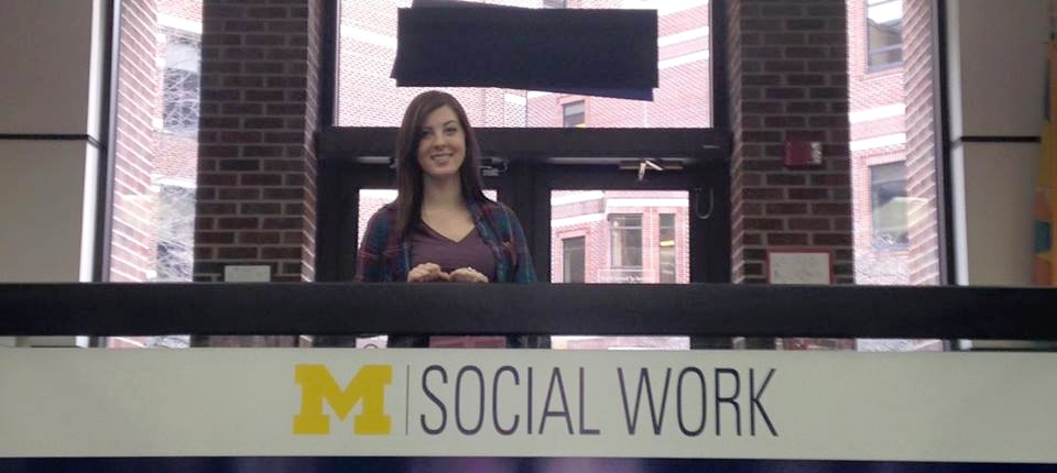 Girl at the University of Michigan School of Social Work
