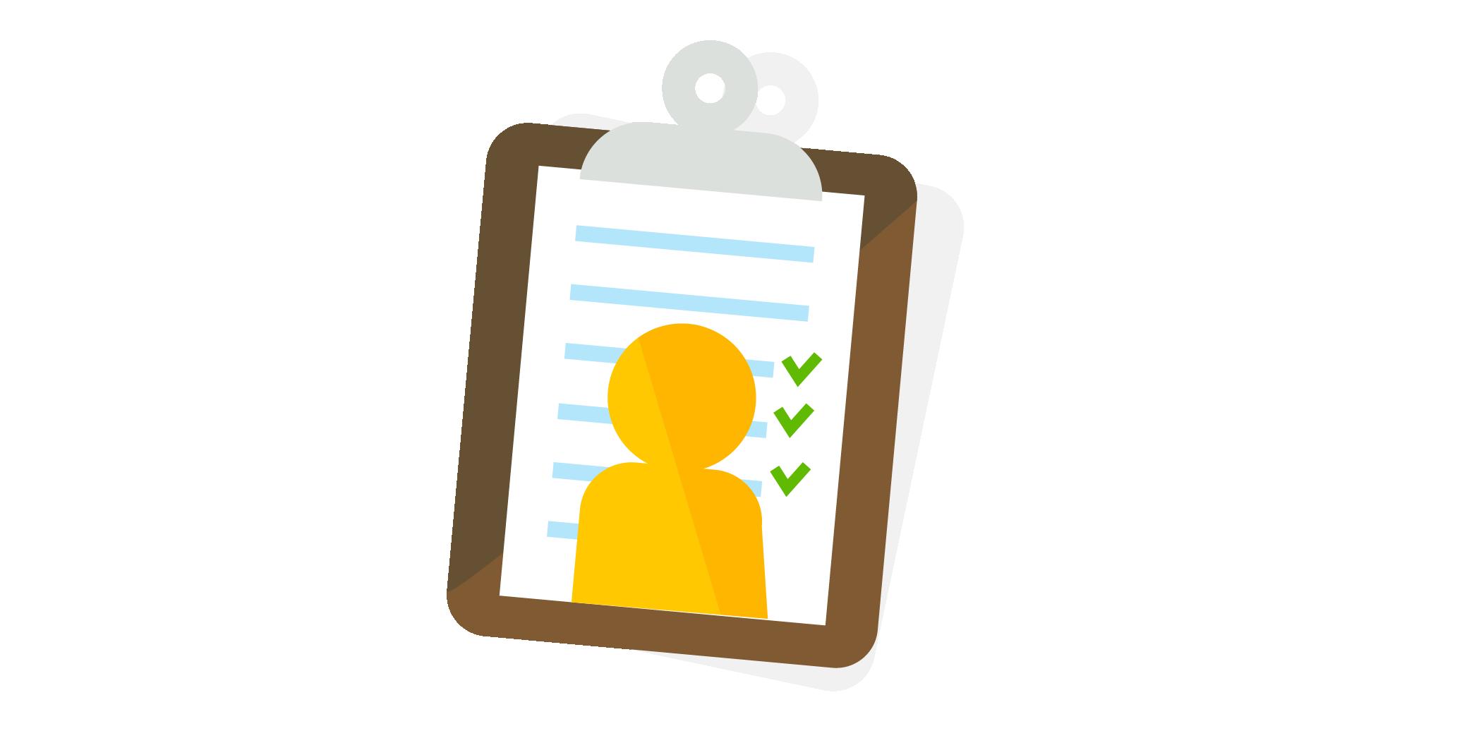 chart checklist illustration