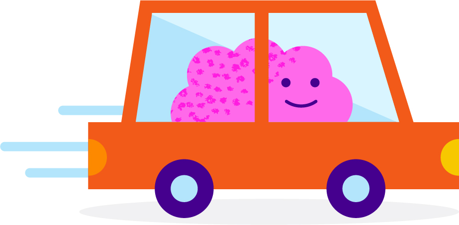 brain car illustration