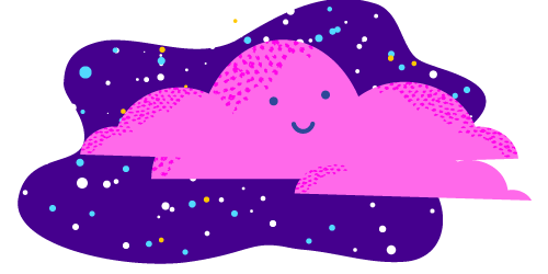 purple cloud illustration