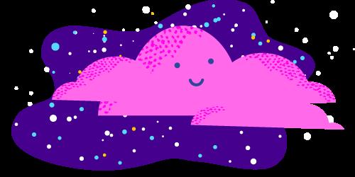 purple cloud illustration